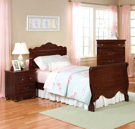 Standard Furniture 56063A Jaqueline Series  Twin Size Sleigh Bed
