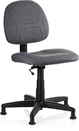 Reliable SewErgo 1x0SE Ergonomic Task Chair with Glides with Dimensions: