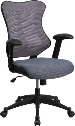 Flash Furniture BL-ZP-806-XX-GG High Back Mesh Chair with Nylon Base