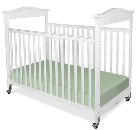 "Foundations 1842XXX Biltmore Collection SafeReach Clearview Compact Crib with 3"" Ultra-Durable Antimicrobial Mattress:"