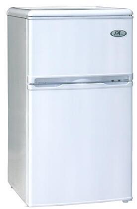 Sunpentown RF322W  Freestanding Counter Depth Compact Refrigerator with 3.2 cu. ft. Capacity, 1 Wire ShelfField Reversible Doors