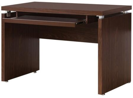 """Coaster Peel 47.25"""" Computer Desk with Keyboard Tray, Floating Top and Wood Grain Construction in"""