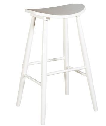 Linon 42911WHT01KDU Commercial or Residential No Upholstered Bar Stool