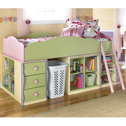 Signature Design by Ashley B140081617181968B68T Doll House Series  Twin Size Loft Bed