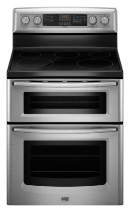 Maytag MET8665XS Gemini Series Electric Freestanding Range with 5 Smoothtop Cooktop Oven 4.2 cu. ft. Primary Oven Capacity |Appliances Connection