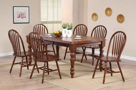 Sunset Trading DLUSLT4272820CT7PC Andrews Dining Room Sets