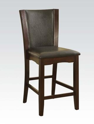Acme Furniture 70514 Malik Series Transitional PU Leather Wood Frame Dining Room Chair