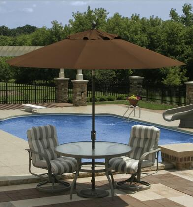 Standard View with canopy opened, set up poolside