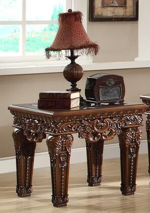 Homey Design HD430E Traditional Square End Table