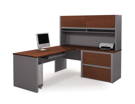 Bestar Furniture 93872 Connexion L-shaped workstation including assembled oversized pedestal