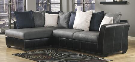 Benchcraft 1420X-67-16 Masoli Two-Toned Sectional Sofa with Right Arm Facing Sofa and Left Arm Facing Chaise in