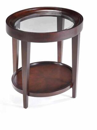 Magnussen T163207 Carson Series Transitional Oval End Table