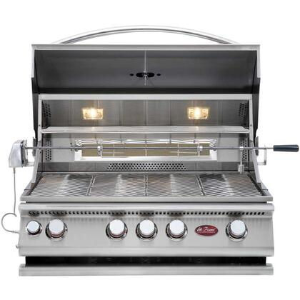 Cal Flame BBQ1387xCP Built-In Liquid Propane Convection Grill with 304 Stainless Steel Construction, Rotisserie, Dual Lights, and Drip Tray, in Stainless Steel