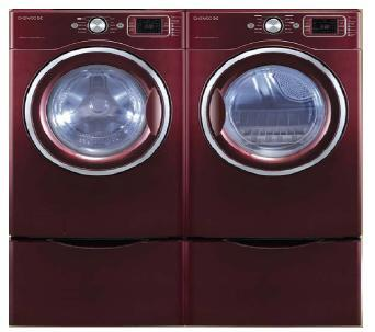 Daewoo DWDWD1352RC  4.5 cu. ft Front Load Washer, in Red
