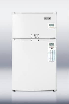 """Summit CP35LLF2PLUSADA 19""""  Refrigerator with 2.9 cu. ft. Capacity in White"""