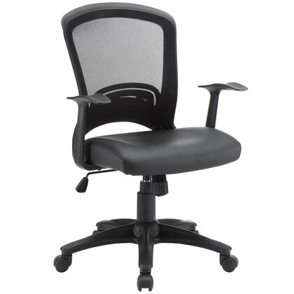 Modway EEI-756 Pulse Vinyl Office Chair with Five Dual-caster Wheels, Pneumatic Height Adjustment, Lumbar Support, Tilt Tension Control, Breathable Mesh Back, Sponge Seat Covered with Vinyl