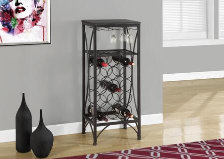 """Monarch I 334X 40"""" Home Bar with Glass Storage, Bottle Holders and Shelf"""