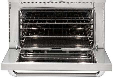 """Capital MCR364B 36"""" Precision Series Gas Range with 4 Sealed Burners and 12"""" BBQ Grill, 4.9 cu. ft. Oven Capacity, Infrared Broil Burner, Convection Bake and Manual Clean, in"""