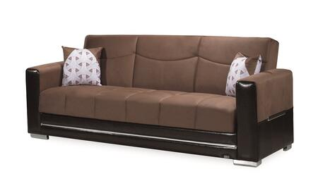 """Casamode Monaco Collection MONACO SOFABED 90"""" Sofa Bed with Microsuede Fabric Upholstery, Under Seat Storage and Track Arms in"""