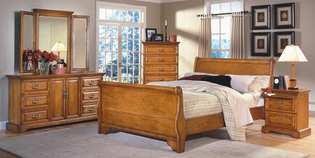 New Classic Home Furnishings 1133QSBDMCN Honey Creek Queen B