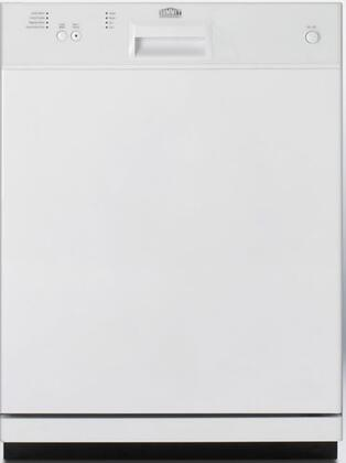 Summit DW2432W 2400 Series White Built-In Full Console Dishwasher with