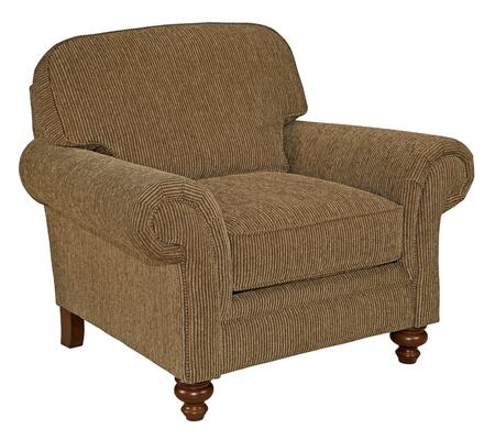 "Broyhill Larissa 61120COLOR 44"" Wide Chair with Rolled Arms, Turned Front Feet and Reversible Seat Cushion in"
