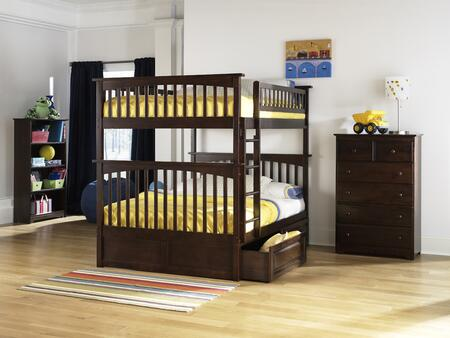 Atlantic Furniture YBBCOLUMBIAFULLFULLAW Columbia Series  Full Size Bed
