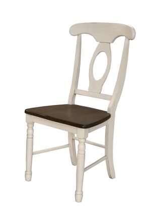 """AAmerica British Isles Collection 285K 39"""" Napoleon Side Chair with Stretchers, Turned Legs and Scooped Seat in"""