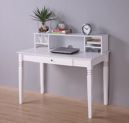 Walker Edison DW48S30DHWH Writing  Wood Desk