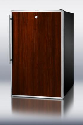 """Summit CM421BLFR Freestanding All Refrigerator Yes 4.1 cu. ft. Yes 19.88"""" Compact Refrigerator 