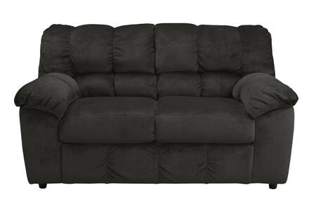 Milo Italia Leilani MI-9800BTMP Loveseat with Plush Padded Arms, Divided Back Cushion and Small Round Feet in