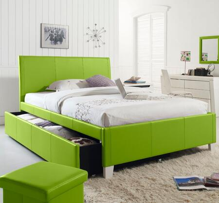 Fantasia Green Bed with Trundle