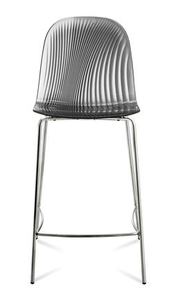 Domitalia PLAYARB0FCRS Playa Bar Stool with Steel Frame, Foot Rest and Acryl Nitrile Styrene Shell