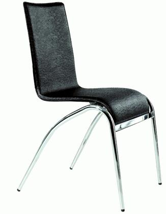 Chintaly ELAINESCBLK Elaine Series  Dining Room Chair
