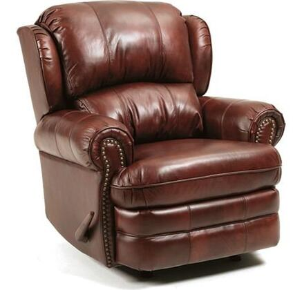 Lane Furniture 5421S63516340P Hancock Series Traditional Leather Wood Frame  Recliners