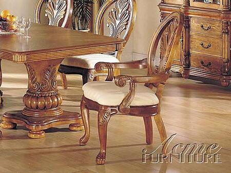 Acme Furniture 08612A Coronado Series Transitional Fabric Wood Frame Dining Room Chair