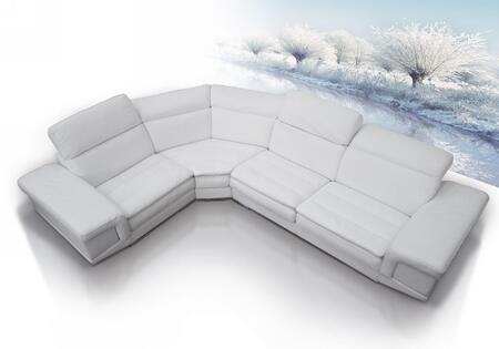 VIG Furniture VGDIQUEEN Dima Queen Series Stationary Leather Sofa