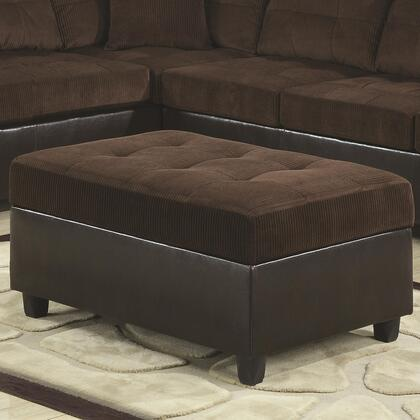 Coaster 503014 Henri Series Contemporary Faux Leather Ottoman