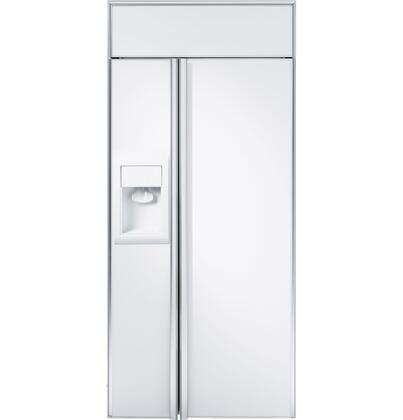 GE Monogram ZISW360DX Monogram Series Side by Side Refrigerator with 21.1 cu. ft. Capacity in Panel Ready