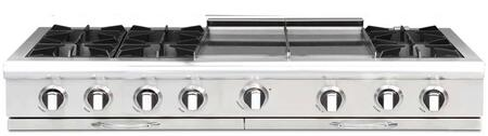 """Capital CGRT604GG2L 60"""" Culinarian Series Gas Open Burner Style Cooktop, in Stainless Steel"""
