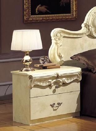 VIG Furniture VGCABOROCCOIVONS Barocco Series Rectangular Wood Night Stand