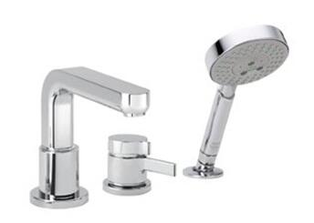 Hansgrohe 4126 3-Hole Thermostatic Tub Filler, Trim Only from the Metris S Collection: