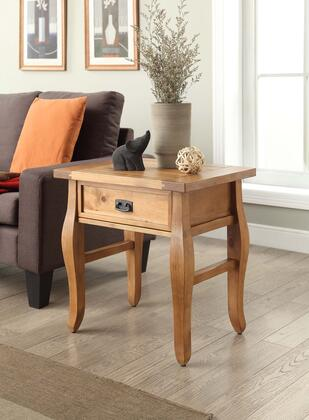 Linon 76057ANT01U Santa Fe End Table