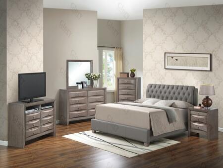 Glory Furniture G1505CKBUPNTV2 G1505 King Bedroom Sets