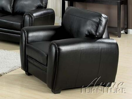 Acme Furniture 15247 Amber Series Bonded Leather with Wood Frame in Black