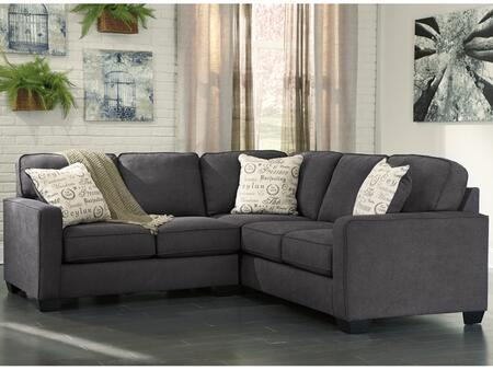 Flash Furniture Signature Design by Ashley Alenya 2 PC Sectional with Toss Pillows, Pillow Back Cushions, Track Arms, Loose Seat Cushions and Microfiber Upholstery in