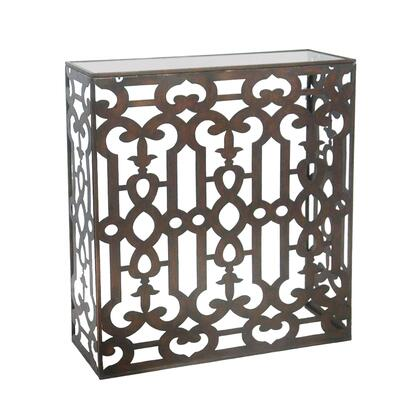 Sterling 510095 Demille Series Transitional Metal Rectangular None Drawers End Table
