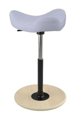 """Varier MOVE 2600 UMAMI 19"""" - 27"""" Sit-Stand Chair with Umami Upholstery,"""