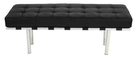 Fine Mod Imports FMI40042B Accent Armless Steel Leather Bench