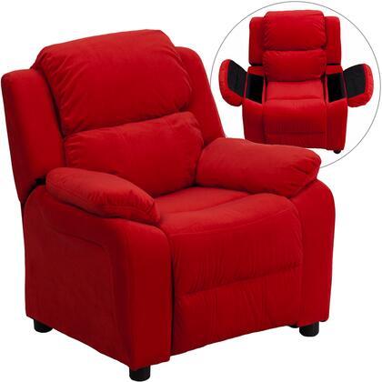 Flash Furniture BT7985KIDMICREDGG Childrens Microfiber Wood Frame  Recliners